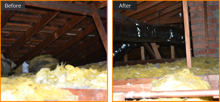 bay area air duct services, attic Insulation installation