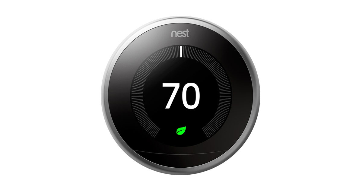 Nest smart thermostat air conditioning bay area hvac - Nest thermostat stylish home temperature control ...