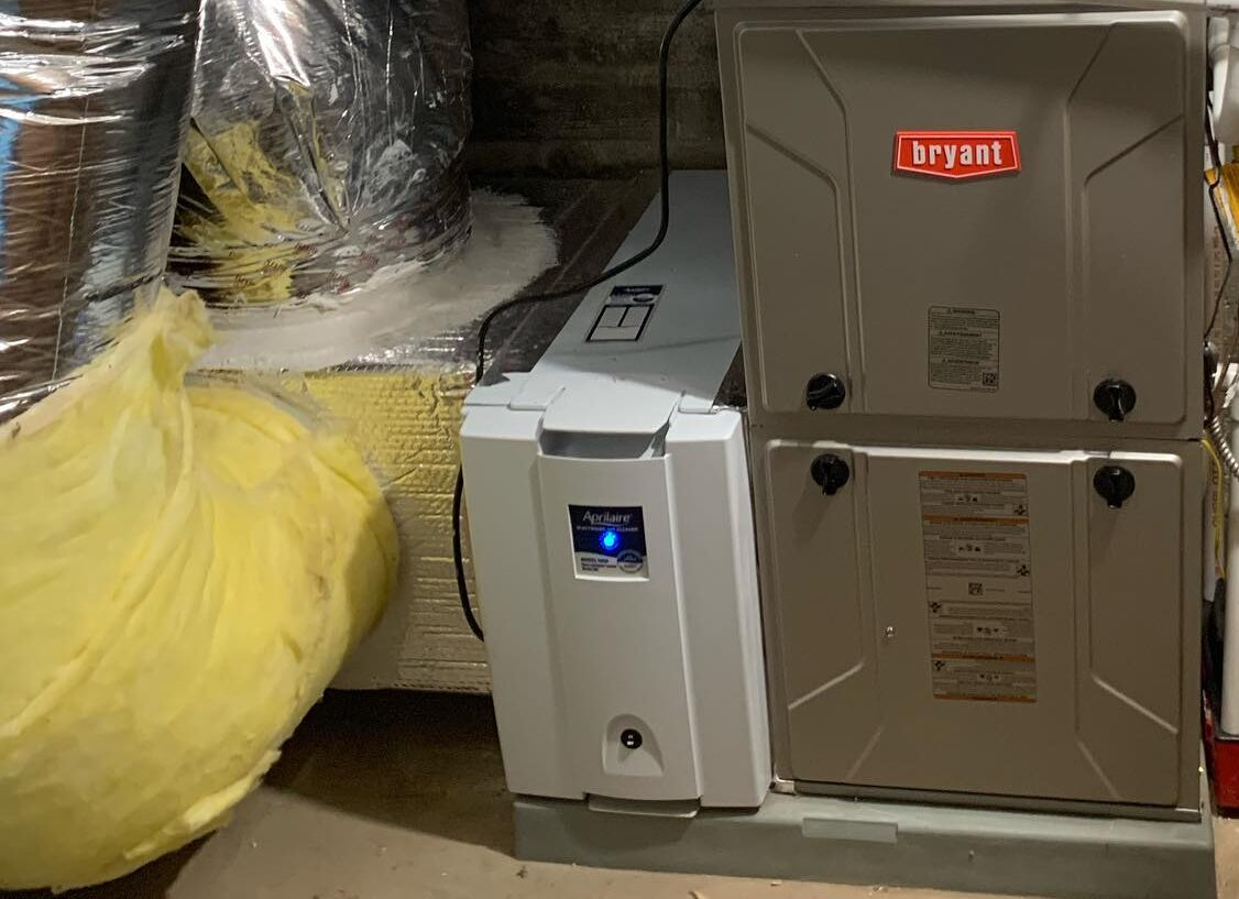 Whole House Humidifier Installed in HVAC System